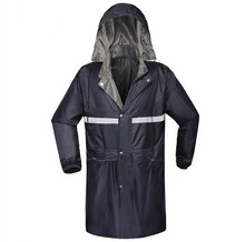 Adult Men Outdoor Raincoat Thicker Slicker Heavy Rain Gear Rainsuit High Quality Rain Cape Jacket Long Sleeve Rain Coat Rainwear