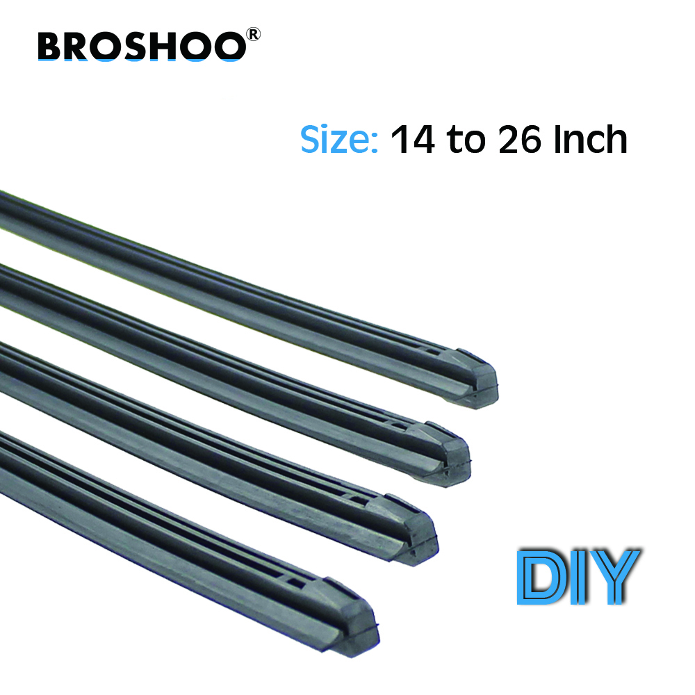 "BROSHOO Car wiper blade Insert Natural rubber strip 8mm 14"" 16"" 17"" 18"" 19"" 20"" 21"" 22"" 22"" 24"" 26"" for toyota car accessories(China)"