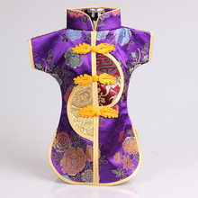 1 pcs China wind gift bottle sets of men and women dress silk Tangzhuang Qipao wine bottle cover set(China)