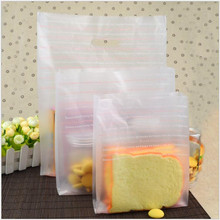 Baking Packed Bag Pink letters Portable Plastics bag Take away food Convenience health L M S 100PCS(China)