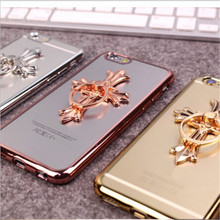 UVR For Iphone 6 6s 7 7 plus 5S SE case star cross plating Phone cases back cover mobile phone case Dust plug funda carcasas
