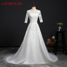 Buy Real Images Vestido De Novia Organza Tulle Wedding Dress 2018 Beads Bridal Dresses Robe de Marriage Wedding Gowns for $87.40 in AliExpress store