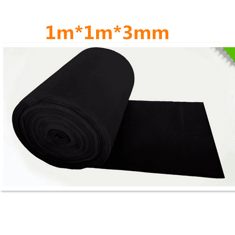 Activated Carbon Sponge Filter Net Smoke Odors Absorber Activated Carbon Fiber Filter 1m*1m*3mm For Vacuum Cleaner Purifier <br><br>Aliexpress