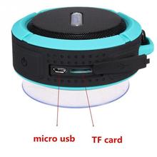 Mini Bluetooth Speaker C6 Portable Waterpro Wireless Stereo Speakers Support SD Cards Bluetooth 3.0 Reciever MP3 Music Player(China)