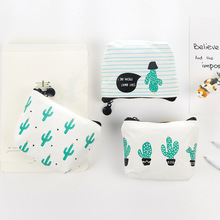 eTya 1PCS Small Cute  Kids Coin Wallet  Women Coin Purse Money Pouch Cactus Change Pouch Key Holder Bag