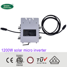 1200W MPPT solar micro grid tie inverterfor PV power system DC 20V 60V AC 230V 185V-265V CE VDE SAA TUV ETL NEMA 6 / 10year