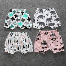 2017 Kawaii baby girl Boys shorts kids Cotton short Pants Summer baby boy girl Kids Trousers Children Clothes For 1 2 3 4 Years(China)