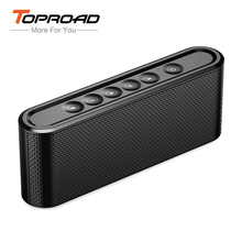TOPROAD Touch Bluetooth Speaker Portable Wireless Super Bass Dual Speakers Support Handsfree TF AUX Sound Box for Mobile Phone(China)