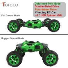 TOFOCO 2.4GHz Double-Sided Four-Wheel Drive RC Car High Speed Deformed All-terrain Vehicle Climbing Dirt Bike Remote Control Car(China)