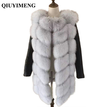 Genuine fur Vest For Women With Removable Real Sheepskin Sleeve Fox Fur Coats Solid Winter Women Coat Plus Size Jackets