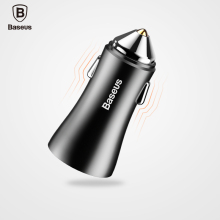 Baseus USB Car Charger For Tablet Mobile Phone Car-Charger USB Charger For Samsung Xiaomi iPad iPhone Dual Port 2.4A Car Charger(China)