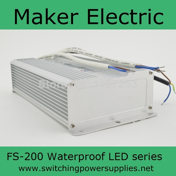 CE approved 200w Waterproof outdoor Single Output Switching power supply for LED Strip light ac to dcFS-200-24 8.3A<br>