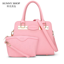 SUNNY SHOP Brand Designer Embossed Women Bag American Style Handbags And Purse High Quality Shoulder Bags With A Wallet