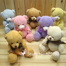Hot sale 8pcs/lot mixed color 15cm lovely plush teddy bear,small plush bear for children gift,Promotion Gifts(China)