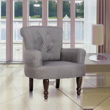 iKayaa  1 piece French chair Armchair Sofa with armrests Gray Sofa For Living Room ES Stock