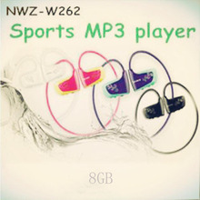 Free Shipping W262 Gift 8gb Sports Mp3 Player Earphone Headphones Headset Music Player 8 colors