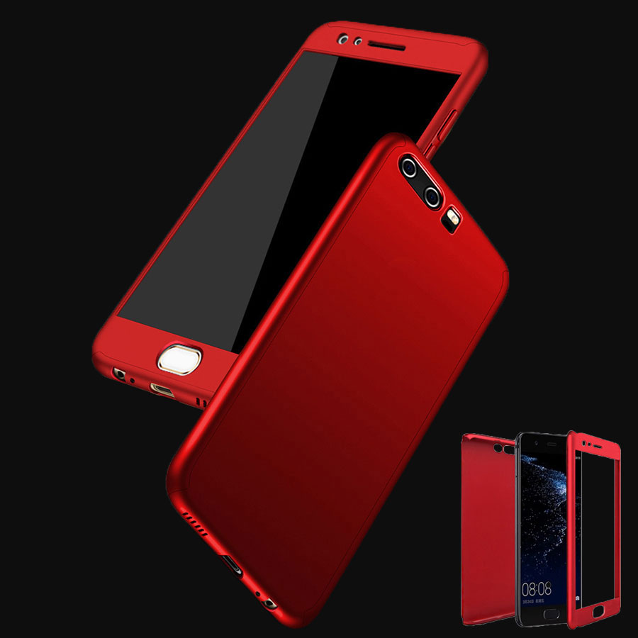 For Huawei P9 / P9 Lite Plus Case P10 / P10 Lite Plus Honor 8 V9 Mate 9 Cases Hybrid PC 360 Full Protective Mobile Phone Cases(China)