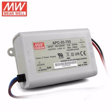 Mean Well APC-35-700 35W 15-50V 700mA  LED Waterproof Driver, Single Output Switching Power Supply