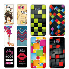 Soft TPU Silicon Funda For HTC U11 Phone Cases For HTC U11 U 11 Dual SIM 5.5 inch New Rainbow Grid Printed Back Cover Case