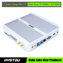 Hystou FMP03 Intel Core i5 7200U Mini PC Windows 10 Linux Server Fanless Aluminum Alloy X86 Mini Computer HTPC 4K HDMI Office PC(China)