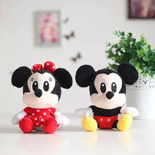 1pcs 25cm New arrival Hot sale Mickey & Minnie Mouse Stuffed Animals Plush Toys For Children's Gift!Wedding decoration dolls(China)