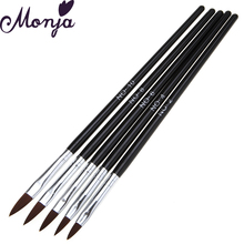 5Pcs/Set Nail Art Acrylic Brush Sculpture Brush Pen Kit 3D Daisy Cherry Blossom Rose Flower Petal DIY Builder Carving Painting(China)