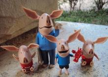 4pcs  pig Toys PVC Action Figures Family Member Pig Toy Juguetes Baby Kid Birthday Gift