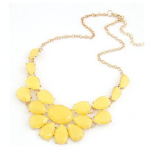 Summer Style Collares Mujer Statement Necklaces & Pendants Imitated Gemstone Jewelry Collier Femme for Women Accessories