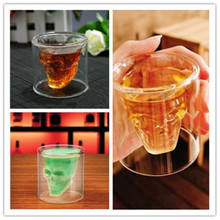 Shot Glass Skull Head Cup Crystal Ware Cup Beer Wine Drinking family Bar necessary Clear Transparent hot selling Creative Gifts(China)