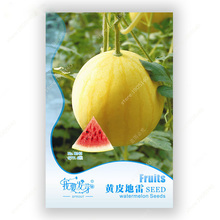 Original Pack 6 Seeds / Pack Watermelon Seeds Potted Plants Balcony Seed Yellow Watermelon(China)