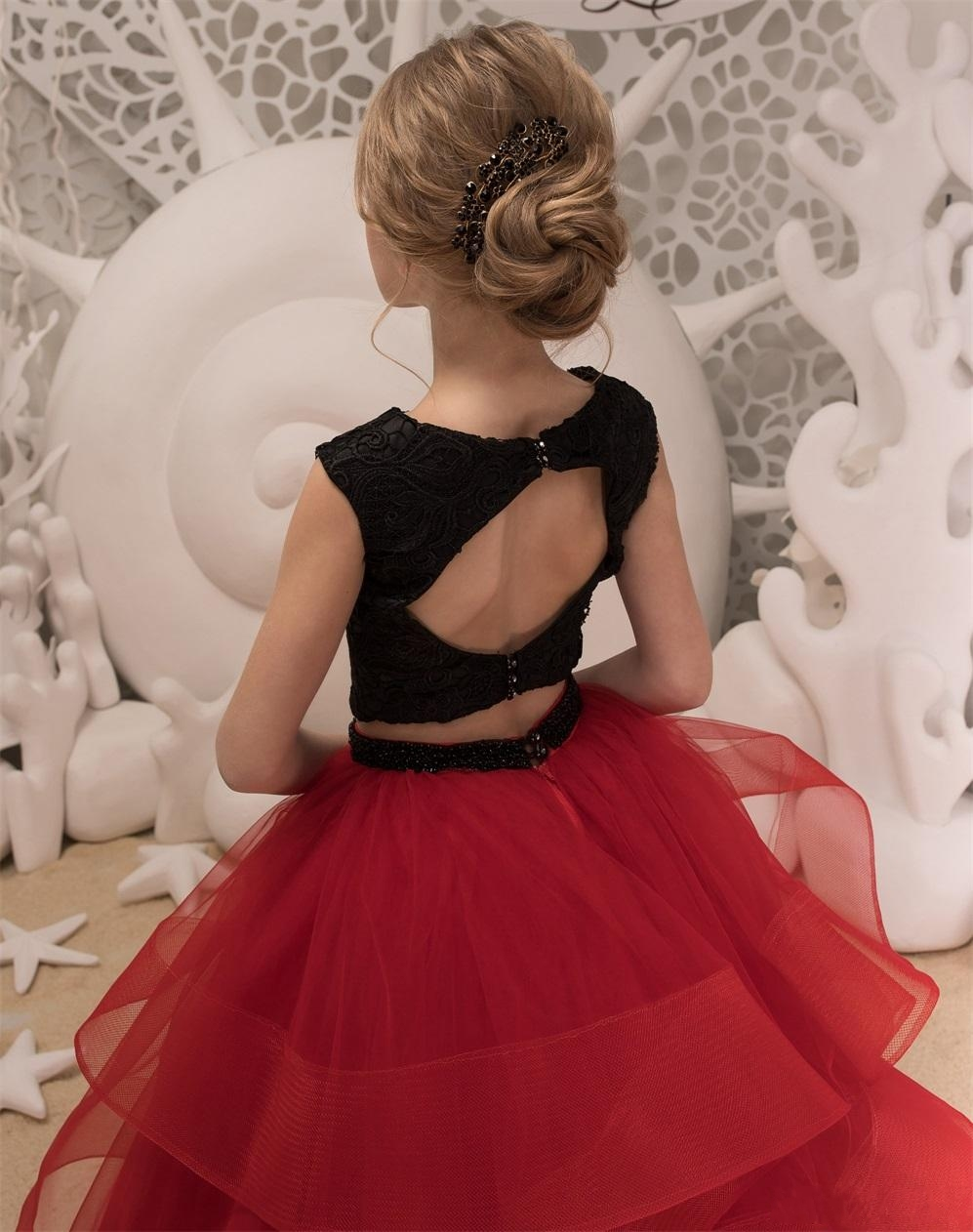 black-and-red-flower-girls-dresses-2018-ruffles (2)_conew1 -