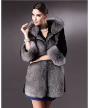 Europe Style Luxury Faux Mink Fur Coat Long New Arrival High Quality Faux Fur Coats For Women Think Warm With Hood Lady Overcoat(China)