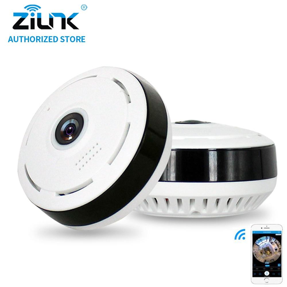 ZILNK 960P WIFI IP Camera 360 Degree Panoramic Camera Fisheye 1.3M Indoor Security Camera IR Night Vision Support TF Card 128GB <br>