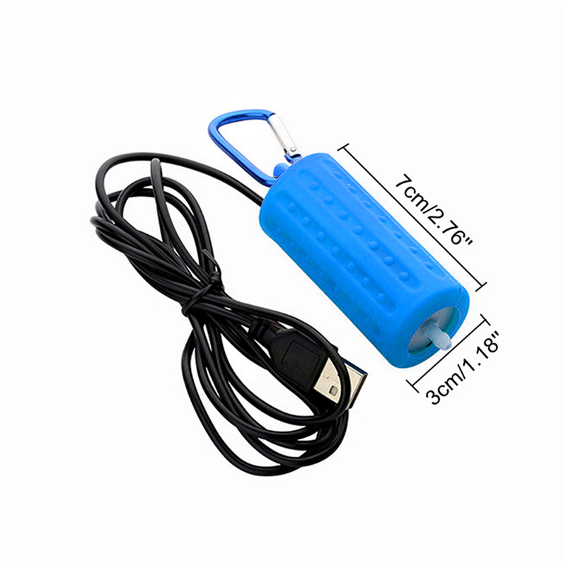 Aquarium Air Pump Portable Mini USB Oxygen Air Pump Mute Energy Saving Supplies Aquatic Terrarium Fish Tank Accessories 09