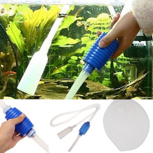 Siphon vacuum water pump gravel cleaner aquarium filter clear tool Wholesale Price