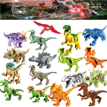 Single Sale Large Figures The world of the Jurassic period Building blocks Dinosaur toys gifts Kids Educational Toys Brinquedos