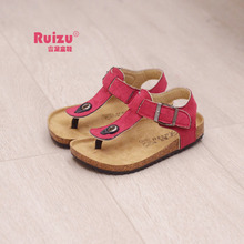 Children Shoes Baby Sandals Cork Sole Soft Sandals Girls and Boys Leather Sandals Flip Flops Slippers Summer Beach Shoes