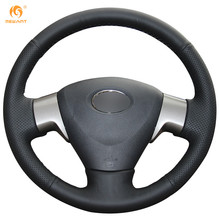Mewant Black Artificial Leather Car Steering Wheel Cover for Toyota Corolla 2006-2010 Matrix 2009 Auris 2007-2009