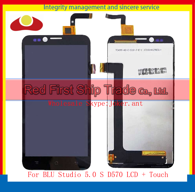 High Quality 5.0 For BLU Studio 5.0 S D570 Full Lcd Display Touch Screen Digitizer Assembly Complete Black Free Shipping<br><br>Aliexpress