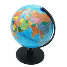 New 25cm World Globe Map With Swivel Stand Map of Earth Geography Study Tool Home Office Bookcase Shop Desktop Decorations Gift
