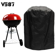 77cm Round Waterproof BBQ Stove Cover Gas Electric Barbecue Portable Grill Protector Black Color Dust Prevention(China)