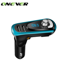 Onever 3-in-1 Car Kit MP3 Player FM Transmitter Bluetototh Car modulator radio Dual Port Car Charger for iPhone for Samsung(China)