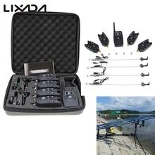 Lixada Wireless Fishing Alarm Fishing Alerts Bite Alarm Pesca Bell 4 1 Receiver+4 Chain Hanger Swinger Digital LED Carp Fishing(China)