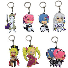 Re Life in a Different World from Zero Figures Kawaii Ram Rem Emilia Packu PVC Keychain Pendants Toys Anime Dolls