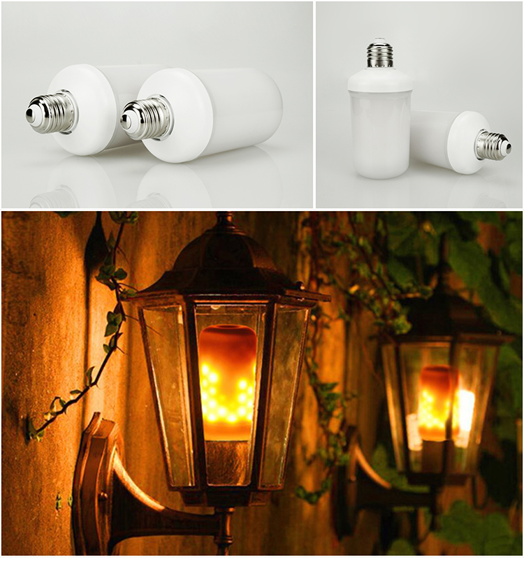 Dynamic Flame Effect Holiday Light LED Corn Bulb Church Castle Lamp Replace Tsl