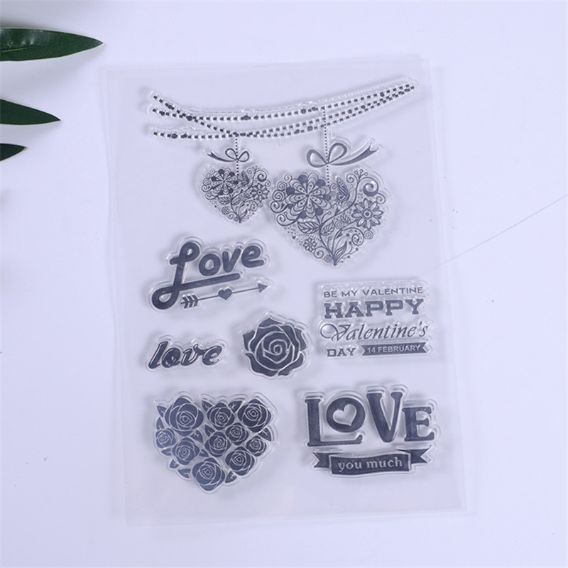 DIY Daisy Flowers Leaves Stamp Rubber Clear Stamp//Seal Scrapbook//Photo Album Decorative Card Making Clear Stamps