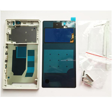 New Front Bezel LCD Panel Rear battery Cover Glass For Sony Xperia Z C6603 L36 L36h LT36 Housing Complete +USB PLUG Cover +NFC