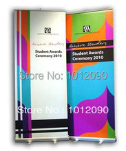 200X80CM Economical Roll up banner stand Aluminum Roll Up Banner Dispaly Stand with one side printing(China)