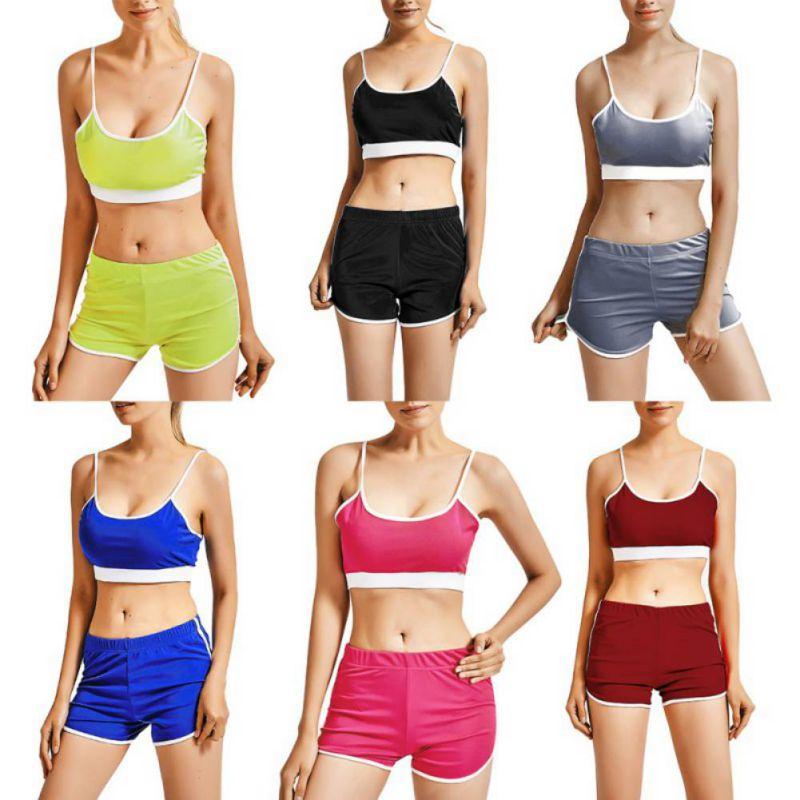 Sport Suit Tracksuit Bra+Short Sportswear 4