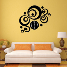 Modern DIY 3D Mirror Effect Wall Clock Sticker Round Dial Acrylic Artistic Decal Clock for Home Decor